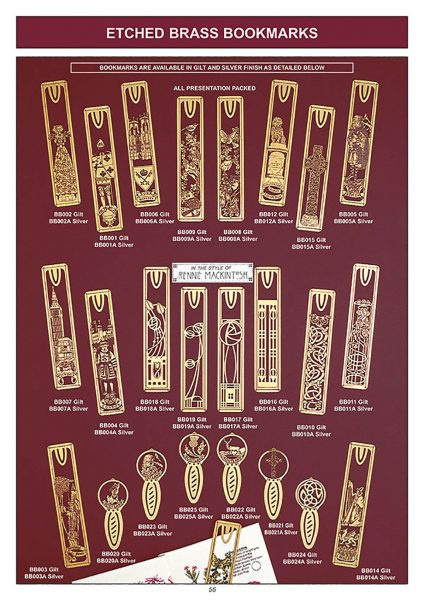gift ware etched brass bookmarks souvenir