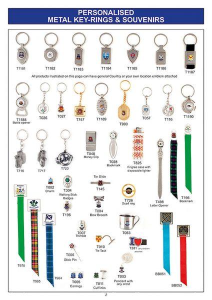 gift ware personalised key ring souvenir