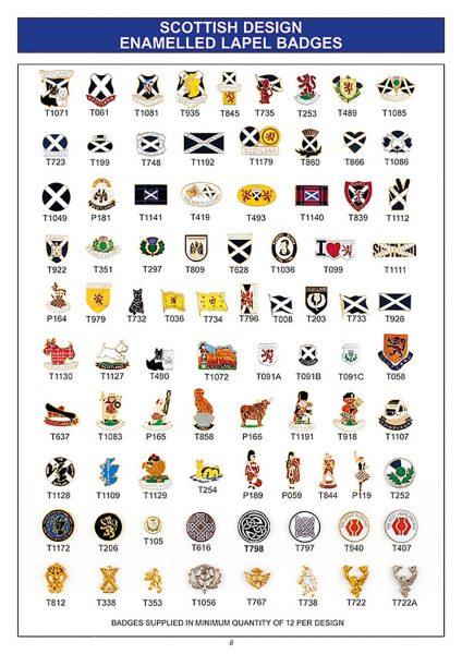 gift ware scottish design enamelled lapel badges