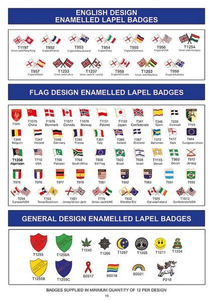 souvenir english enamelled lapel badges