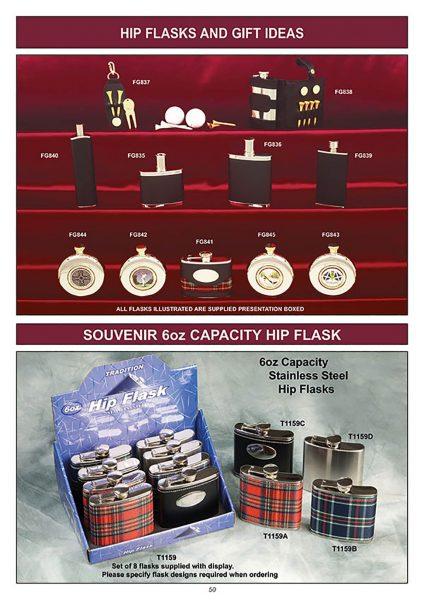 souvenir hip flask gift ideas