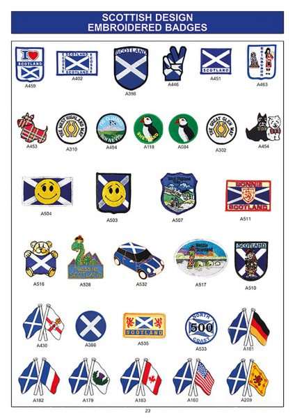 souvenir scotland embroidered badges